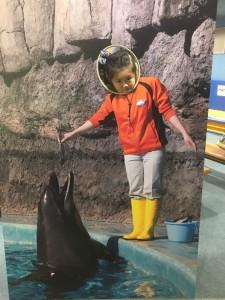 名古屋港水族館にて…笑