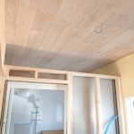 恒例の風呂天井の板張り