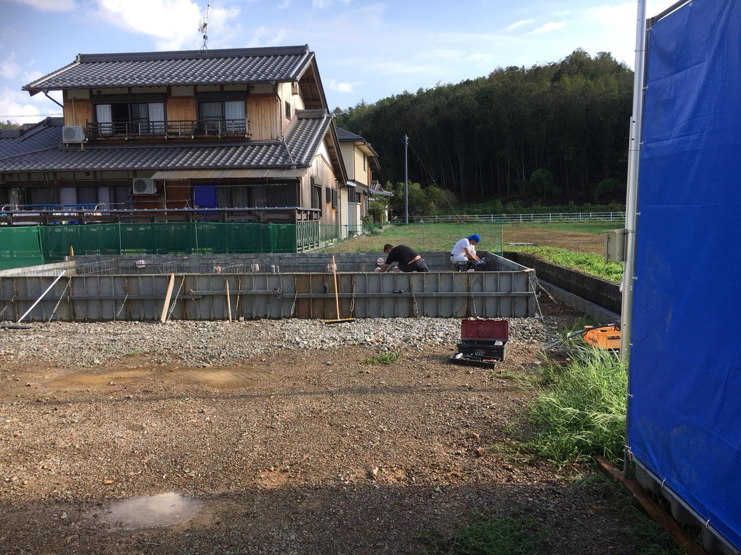 関市の現場では基礎工事が進んでいます