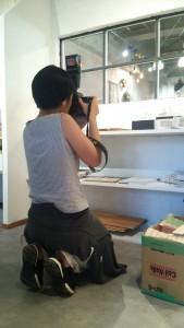 女性カメラマン、かっこいい!