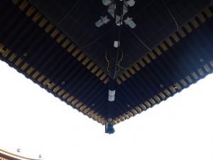 寺社の軒裏のこの角度を見るのが、好きです。
